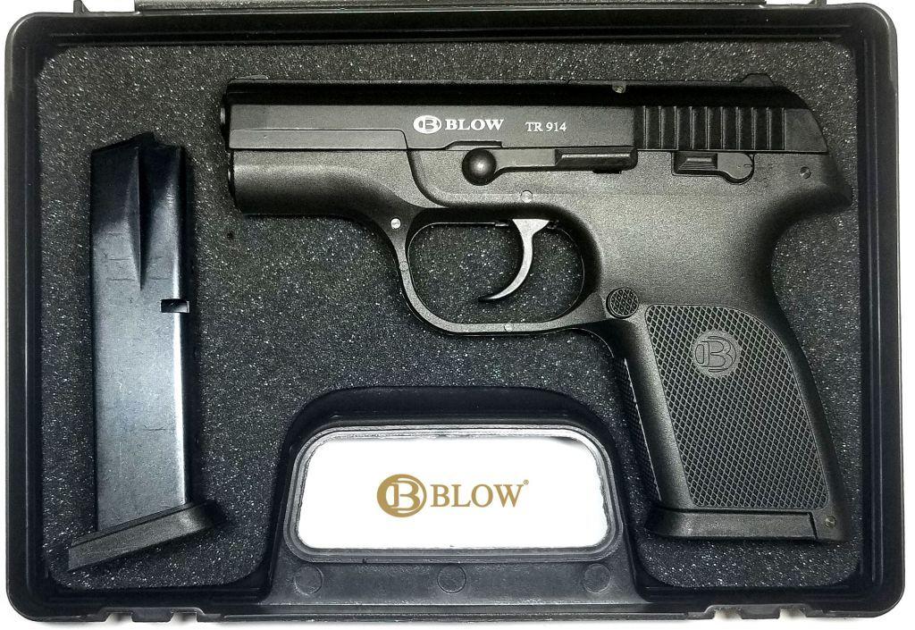 Стартовый пистолет BLOW TR 914; TR 914 02 (чёрный) +  магазин.