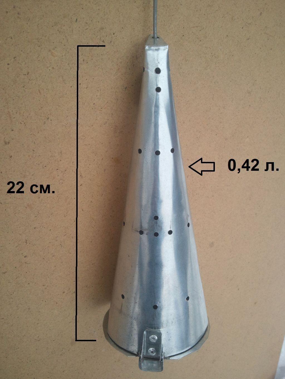 Большая кормушка самосвал для зимней рыбалки 0,42 л.
